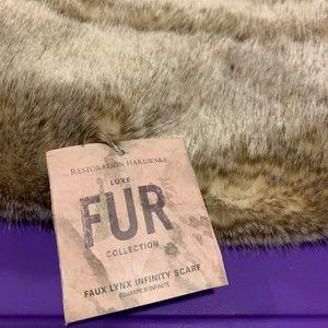 NWT~ Restoration Hardware - Faux Fur Scarf